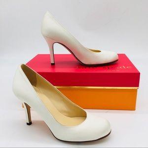 Kate Spade Ivory Satin Wedding Heels Pumps
